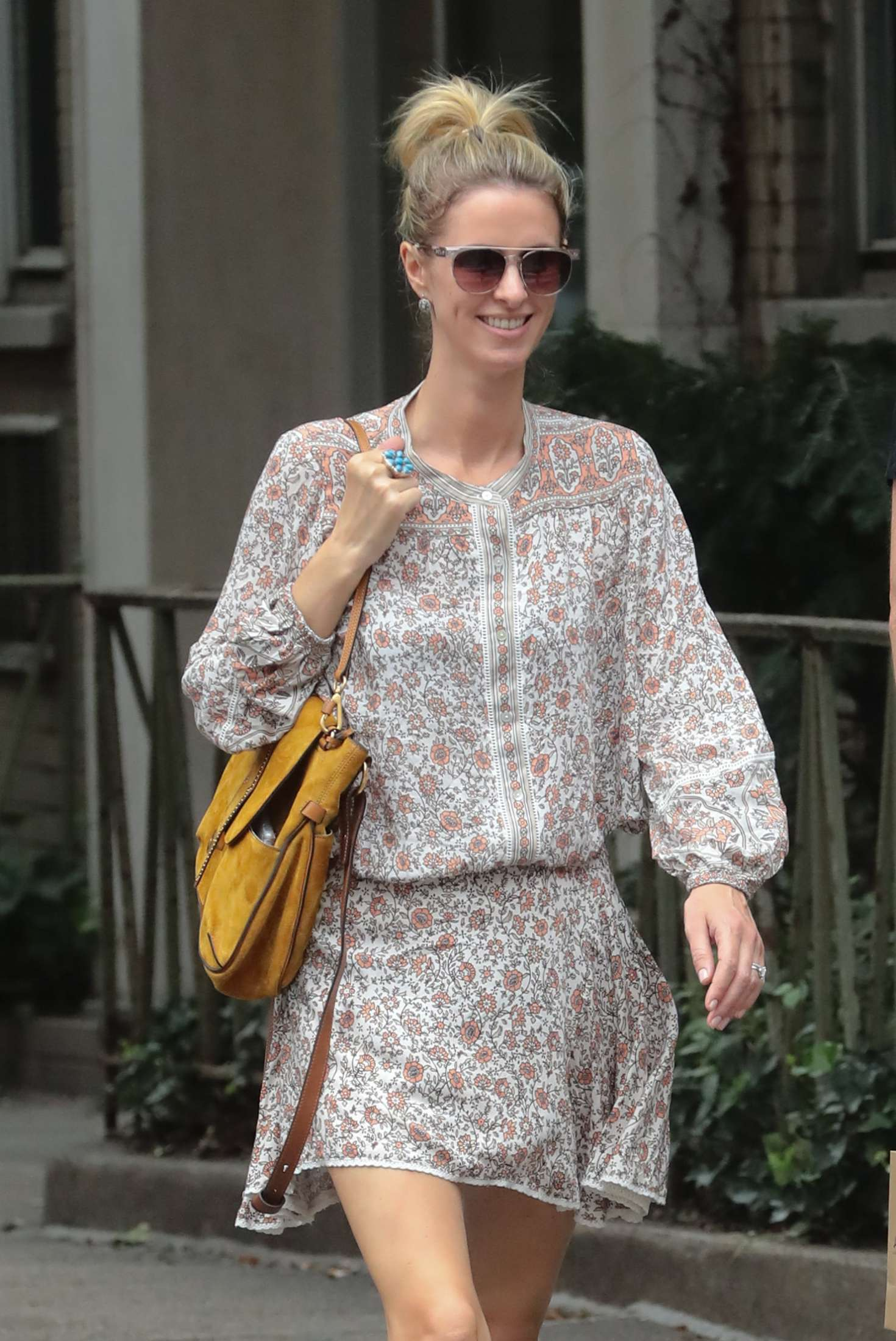 nicky hilton out and about in new york. Black Bedroom Furniture Sets. Home Design Ideas