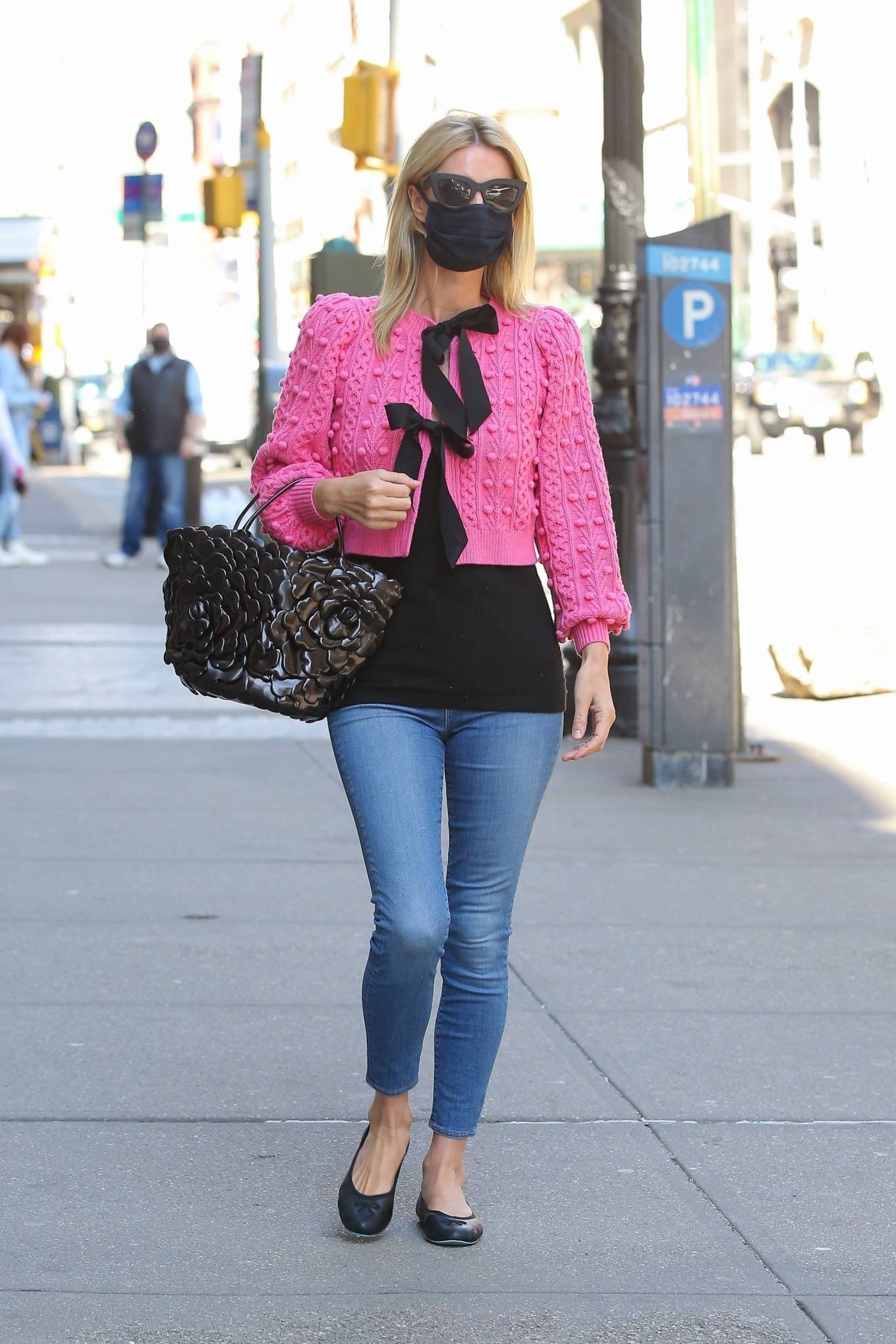 Nicky Hilton - Out in a pink jacket in New York