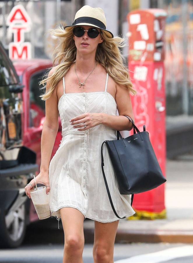 Nicky Hilton in Short Dresss Shopping in New York