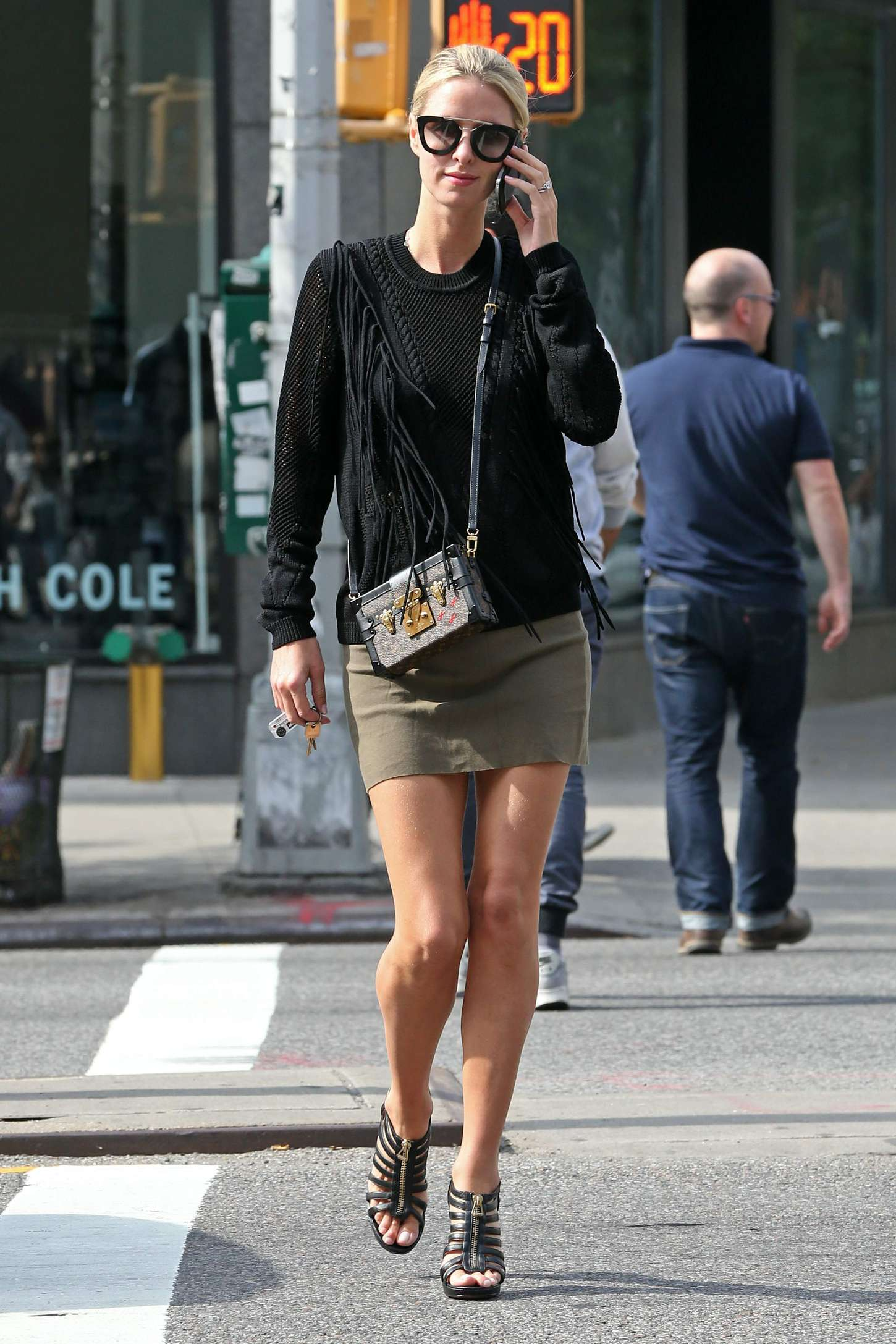 Nicky Hilton in Mini Skirt out shopping in NYC