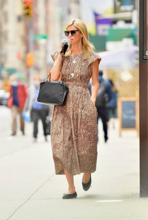 Nicky Hilton - Pictured in a leopard print dress in New York
