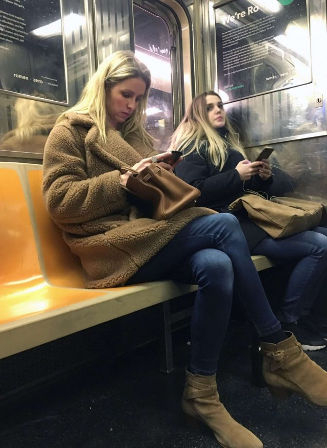 Nicky Hilton – Riding the subway in New York