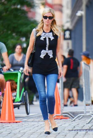 Nicky Hilton Rothschild - Steps out in another stylish ensemble over the weekend in SoHo