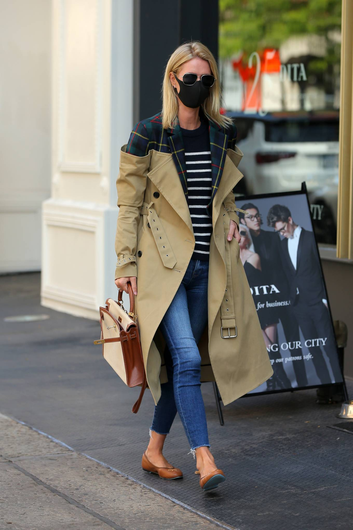 Nicky Hilton 2020 : Nicky Hilton Rothschild – Wearing a quirky trench coat in New York-12