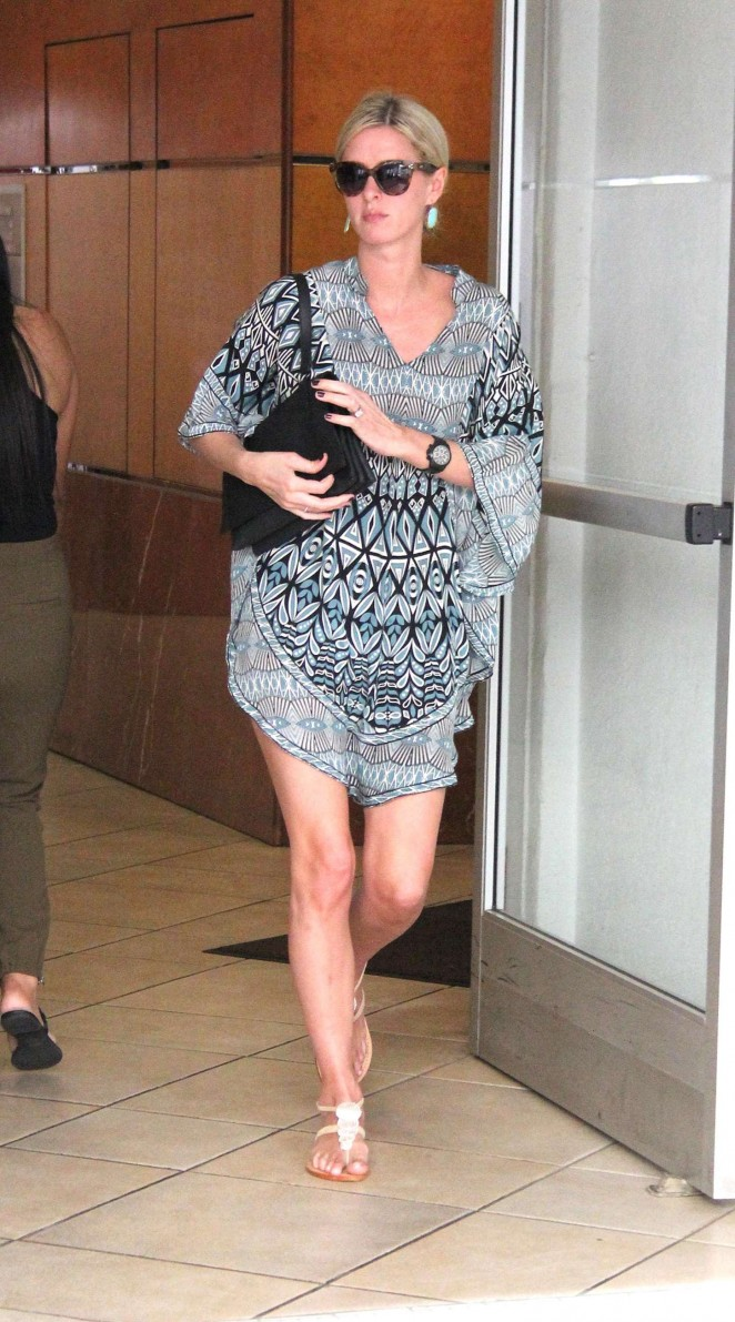 Nicky Hilton in Mini Dress Shopping in Beverly Hills