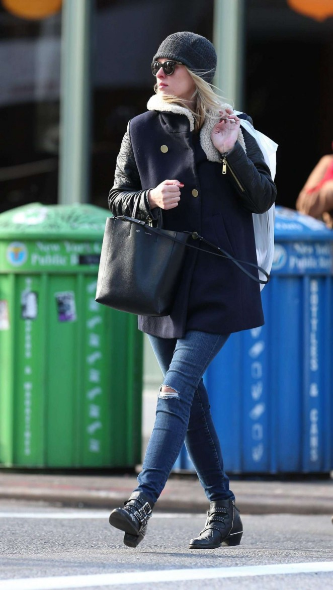 Nicky Hilton in Ripped Jeans Out in New York