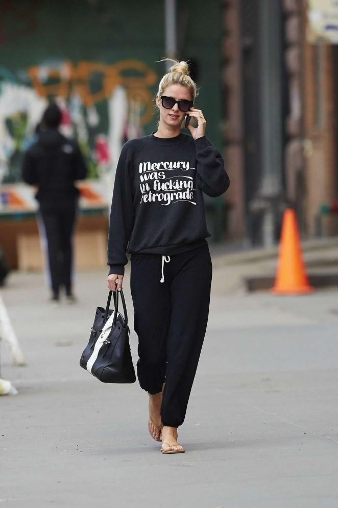 Nicky Hilton walking the street -07