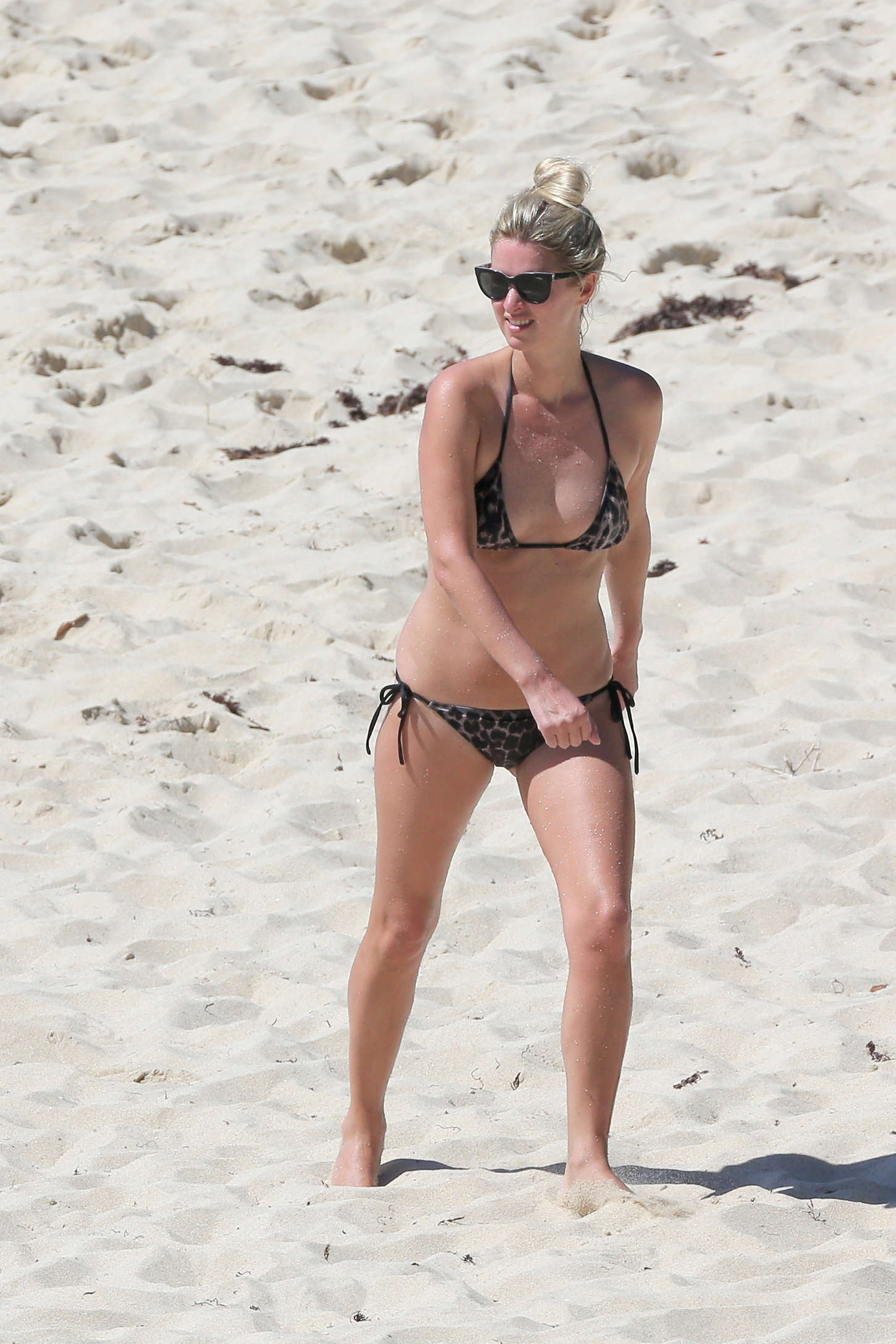 Nicky Hilton in Bikini on the beach in Caribbean