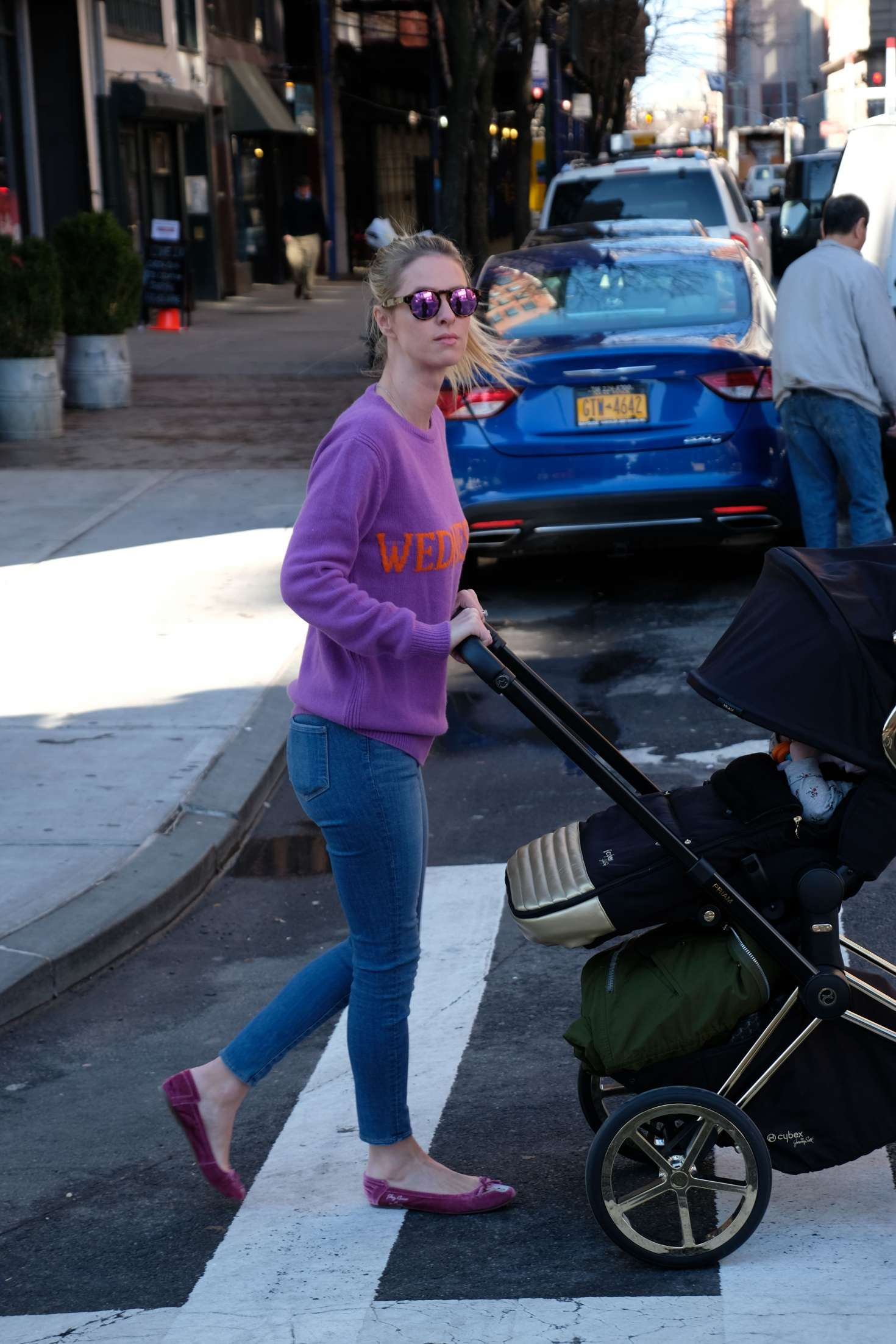 Nicky Hilton 2017 : Nicky Hilton with her baby out in Soho -04