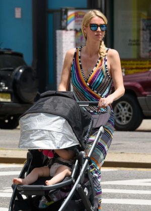 Nicky Hilton with her daughter Lily-Grace out in NYC