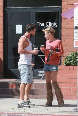 Nicky Whelan - Outside Bulletproof Coffee in Santa Monica