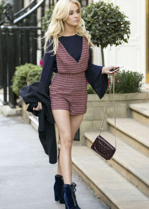 Nicola Hughes Visiting Victoria Beckham's Mayfair shop in London