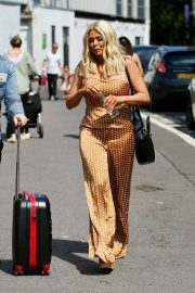 Nicola McLean in a Summery Jumpsuit - Leaves a Photoshoot in London