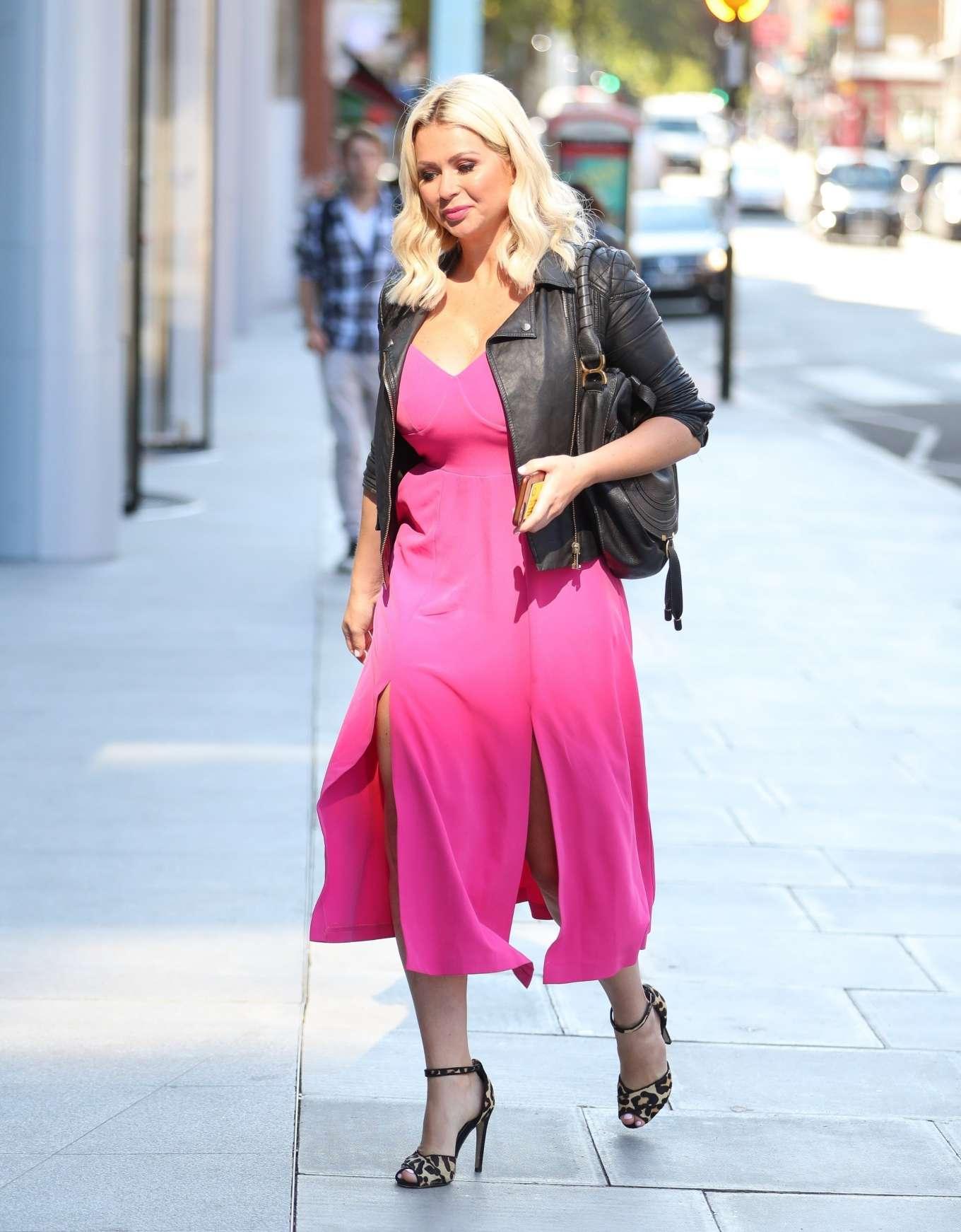 Nicola McLean 2019 : Nicola Mclean – In flirty pink dress exits Jeremy Vine show in London-06