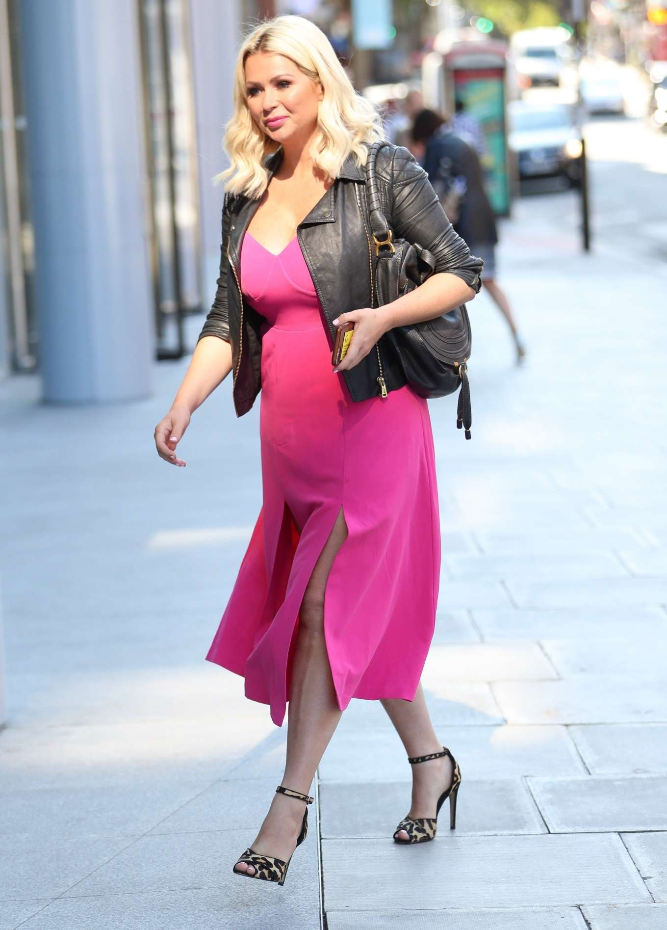 Nicola McLean 2019 : Nicola Mclean – In flirty pink dress exits Jeremy Vine show in London-11