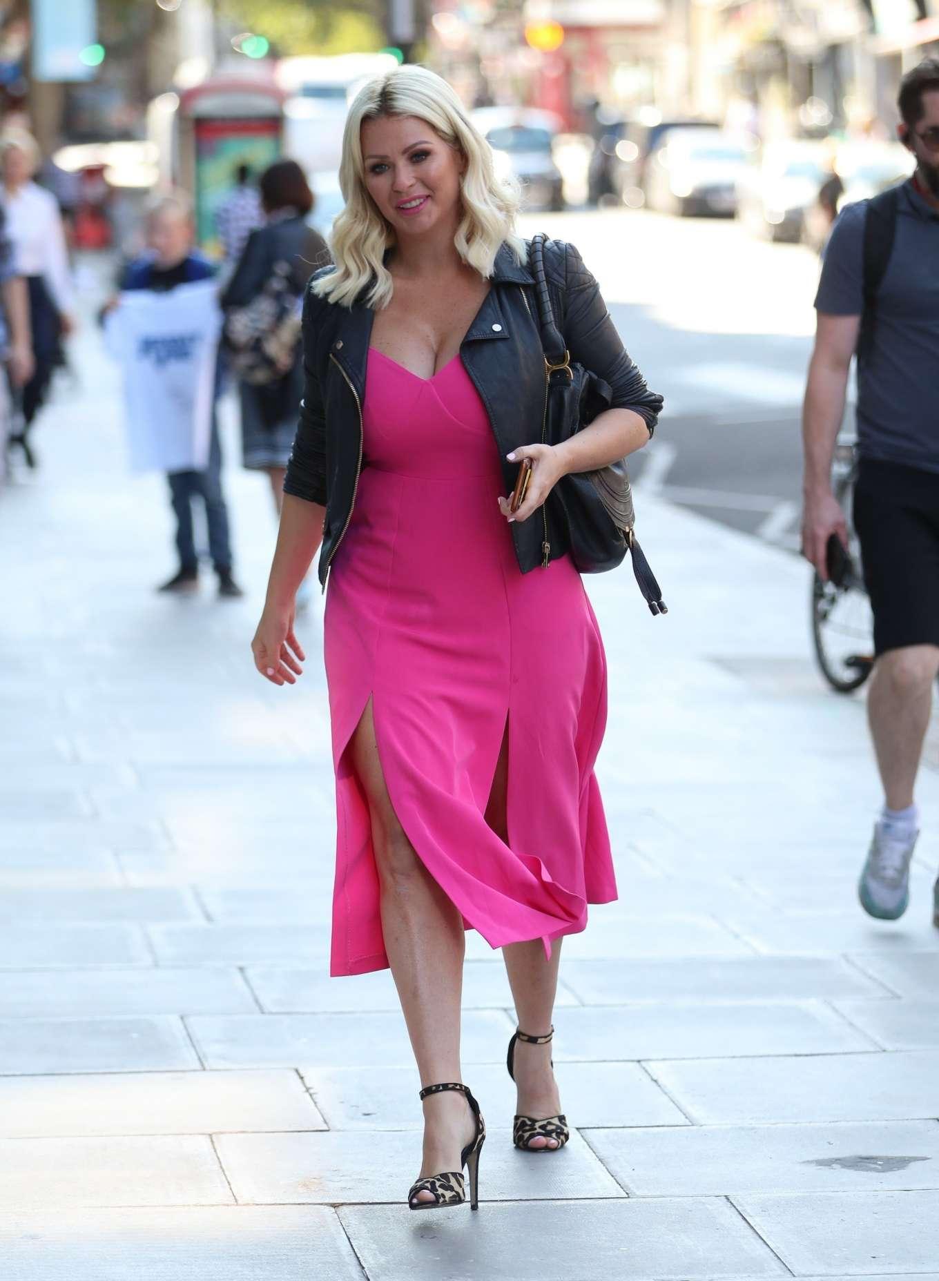 Nicola McLean 2019 : Nicola Mclean – In flirty pink dress exits Jeremy Vine show in London-12