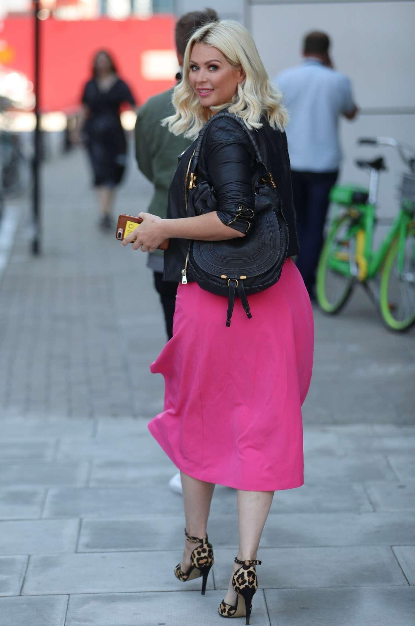 Nicola McLean 2019 : Nicola Mclean – In flirty pink dress exits Jeremy Vine show in London-13