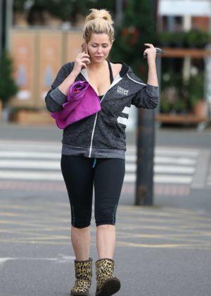 Nicola McLean - Leaving Yoga Centre in London