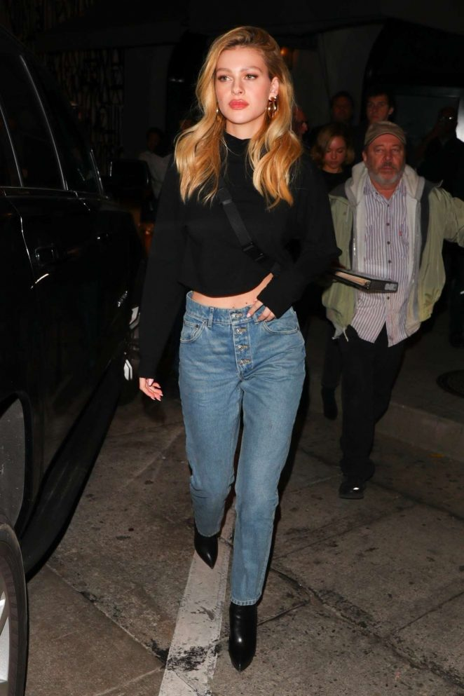 Nicola Peltz - In Jeans Seen Outside Craig's in West Hollywood