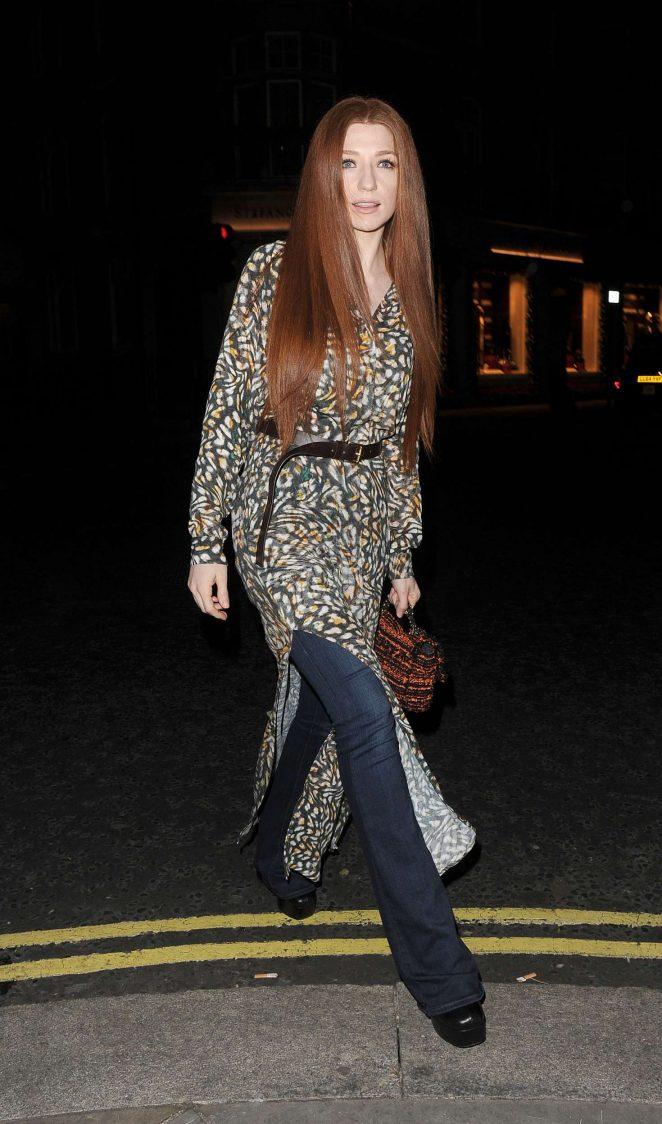 Nicola Roberts at Love Magazine Xmas party in Mayfair