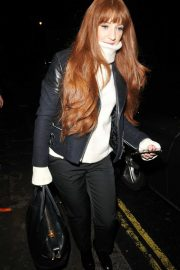 Nicola Roberts leaving the Garrick Theatre