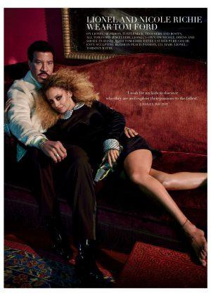 Nicole and Lionel Richie - Harper's Bazaar UK Magazine (September 2018)