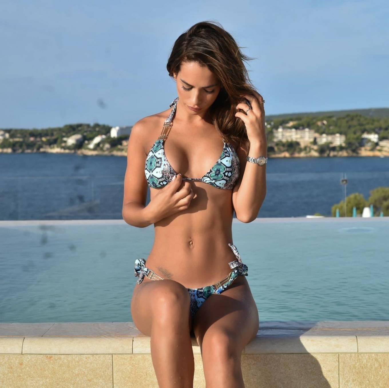 Nicole Bass - In a bikini at a Pool in Tenerife