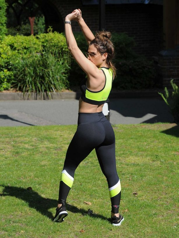 Nicole Bass in Gym Outfit - Workout in Essex