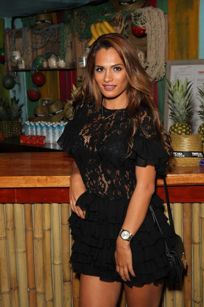 Nicole Bass - VIP Opening Night Of Tropicana Beach Club in London