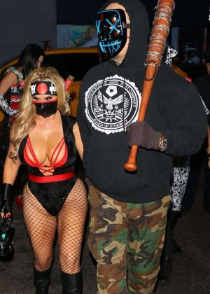 Nicole Coco Austin - Heidi Klum's 19th Annual Halloween Party in NYC