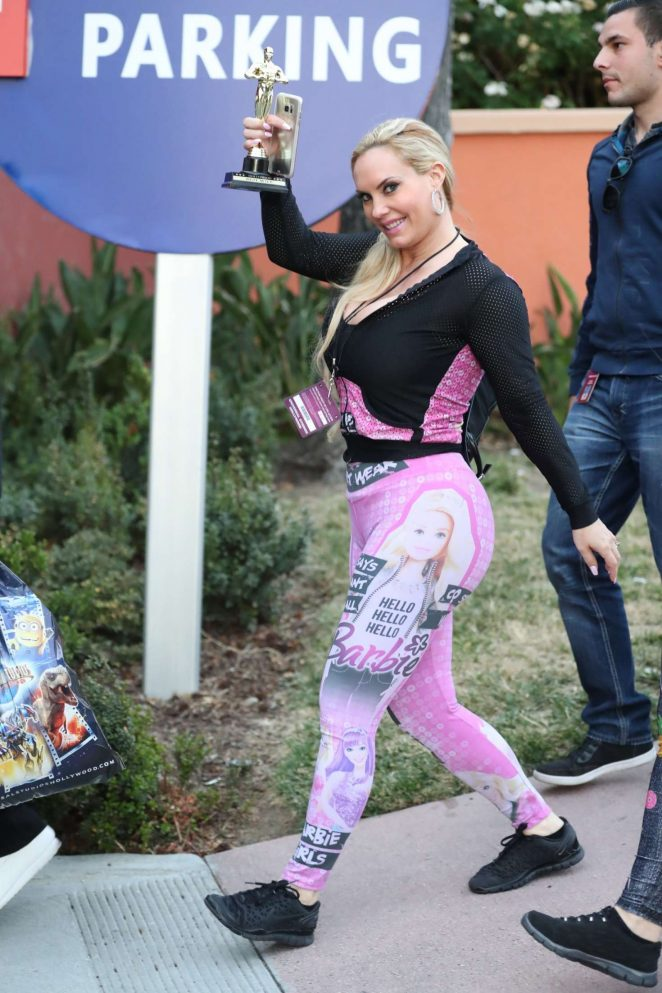 Nicole Coco Austin in Tights at Universal Studios in Universal City