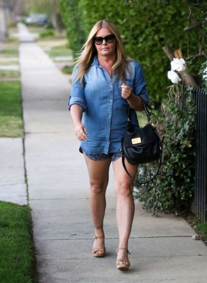 Nicole Eggert Out in Los Angeles