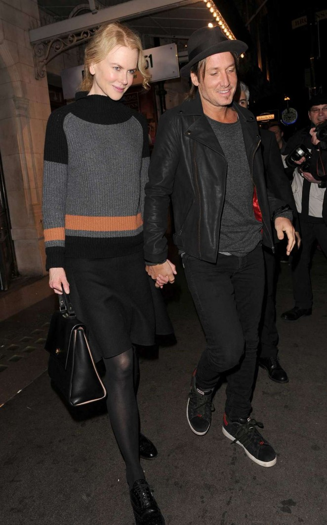 Nicole Kidman and Keith Urban at Noel Coward Theatre in London
