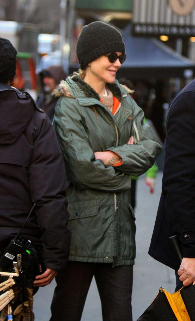 Nicole Kidman - Arriving to 'The Goldfinch' movie set in Manhattan