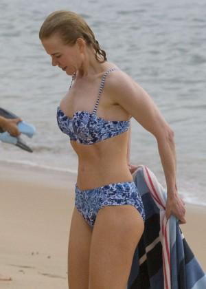 Nicole Kidman in Bikini at Balmoral Beach in Sydney