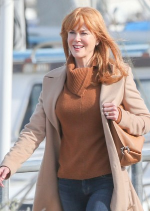 Nicole Kidman - Filming 'Big Little Lies' in Monterey
