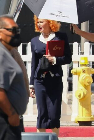 Nicole Kidman - filming scenes as Lucy for 'Being the Ricardos' in Long Beach