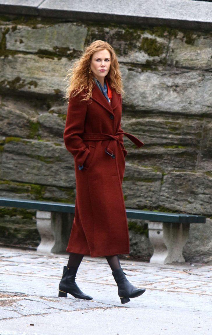 Nicole Kidman: Filming The Undoing Set in NYC -02
