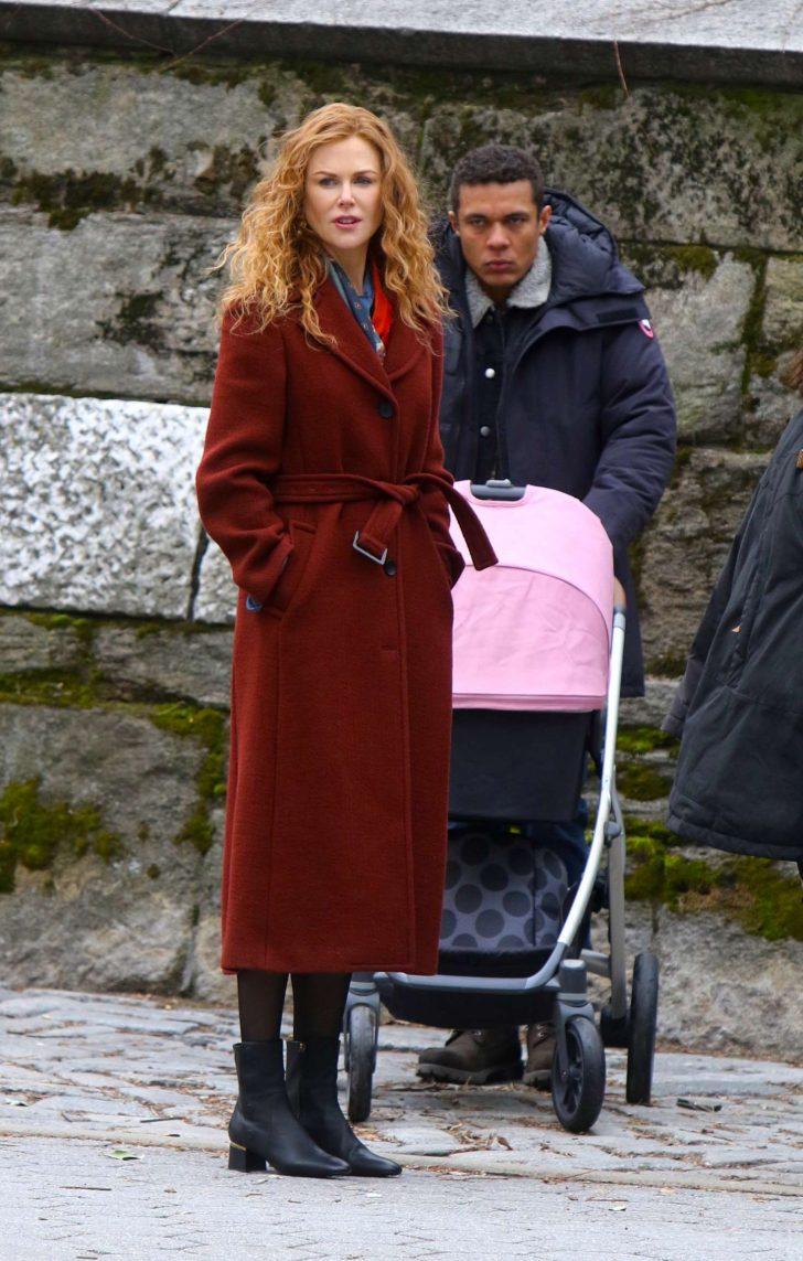 Nicole Kidman: Filming The Undoing Set in NYC -04