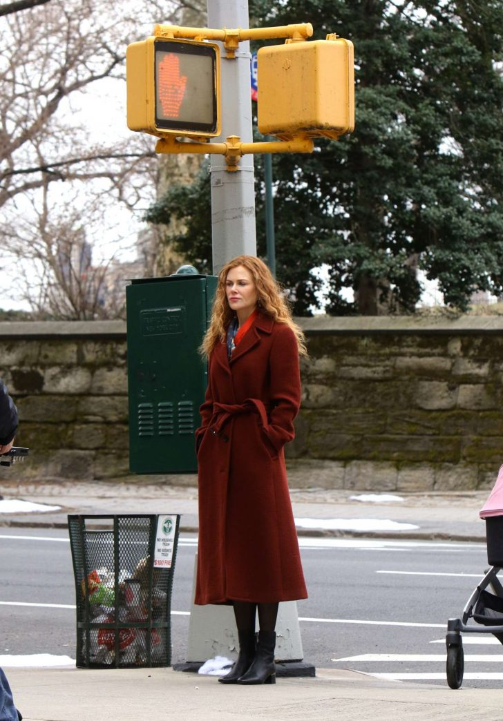 Nicole Kidman: Filming The Undoing Set in NYC -05