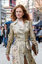 Nicole Kidman - Films 'The Undoing' in Manhattan