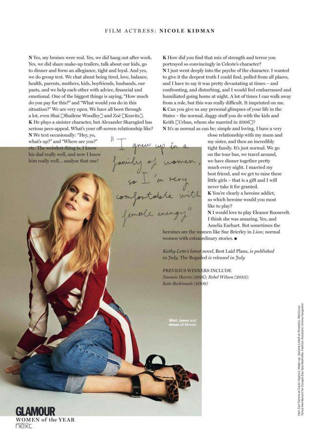Nicole Kidman: Glamour UK 2017 -04