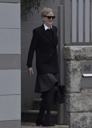 Nicole Kidman Leaves movie set in Sydney