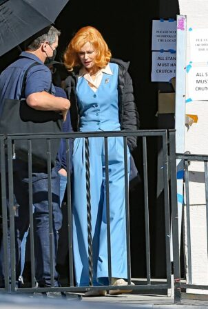 Nicole Kidman - On the set of 'Being the Ricardos' in Los Angeles