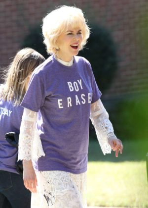 Nicole Kidman on the set of 'Boy Erased' in Atlanta