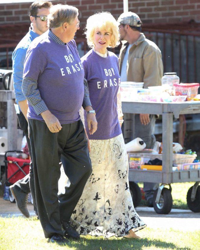 Nicole Kidman on the set of Boy Erased -08