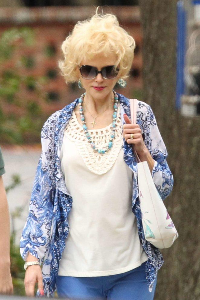 Nicole Kidman - On the set of 'Boy Erased' in Atlanta