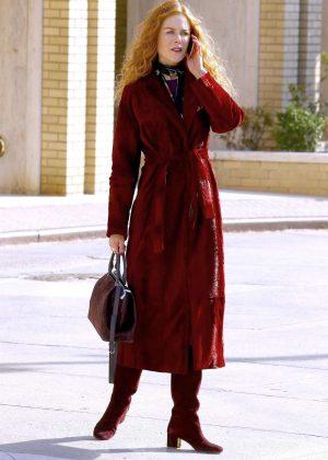 Nicole Kidman - On the set of 'The Undoing' in New York