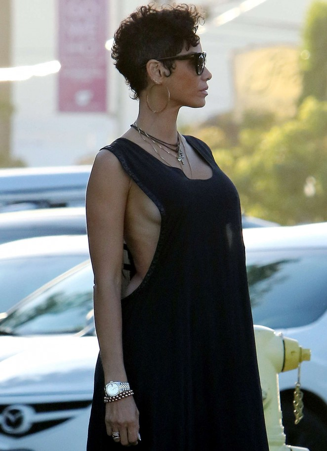 Nicole Murphy in Long Dress out in West Hollywood