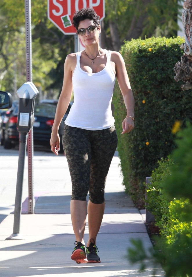Nicole Murphy in Tight Leggings out in Beverly Hills